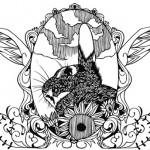 うさぎの切り絵『ことノ屋』