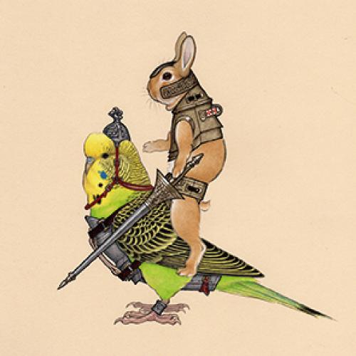 武装せるウサギ